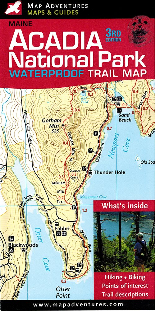 acadia national park waterproof trail map maine jill keefe steven bushey cartographer 9781890060244 amazon com books