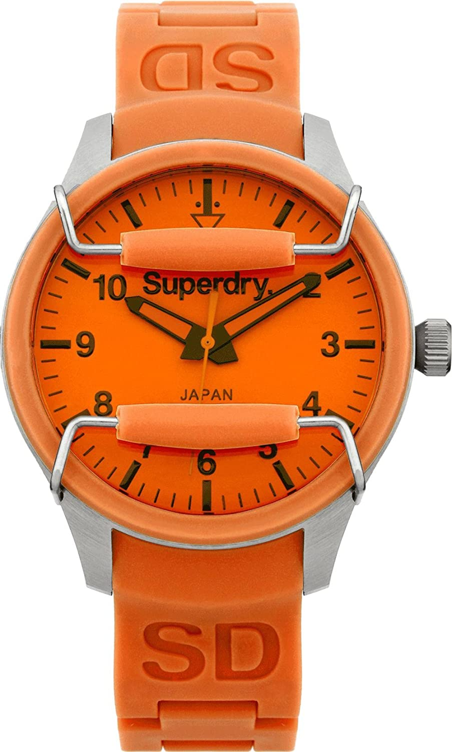 Amazon.com: Superdry SYL133O Ladies Scuba Classic Orange Silicone Strap Watch: Watches