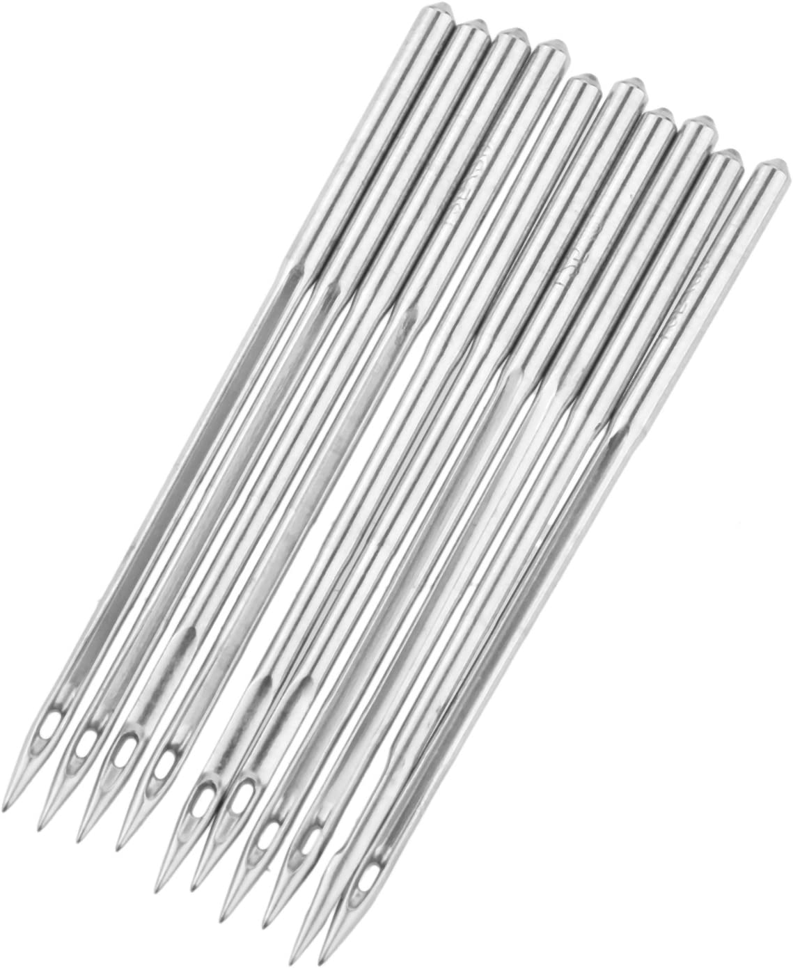 10Pcs DB1 Industrial Sewing Machine Needles for JUKI DDL-555 Singer Brother,Size:7//55