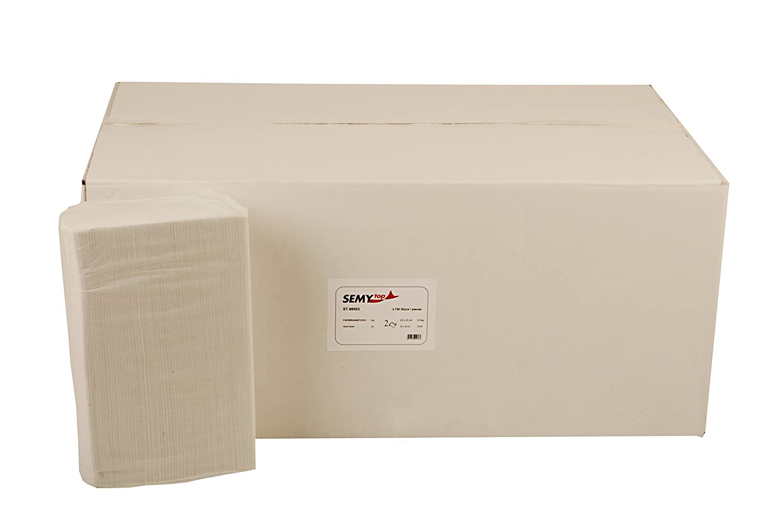 Semy 2-ply carta asciugamani con z-interfold 24.5/x 22/cm fogli in carta riciclata 3750