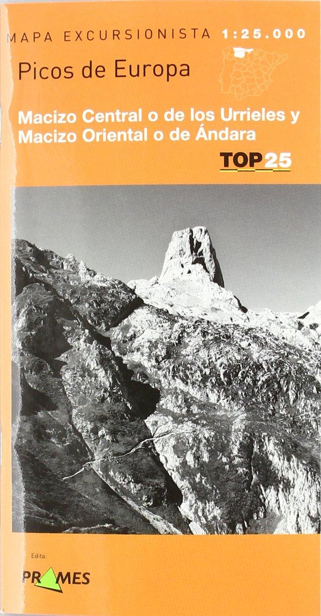 Mapa picos de Europa - macizo central - macizo oriental 1:25000 Top 25 prames: Amazon.es: Aa.Vv.: Libros