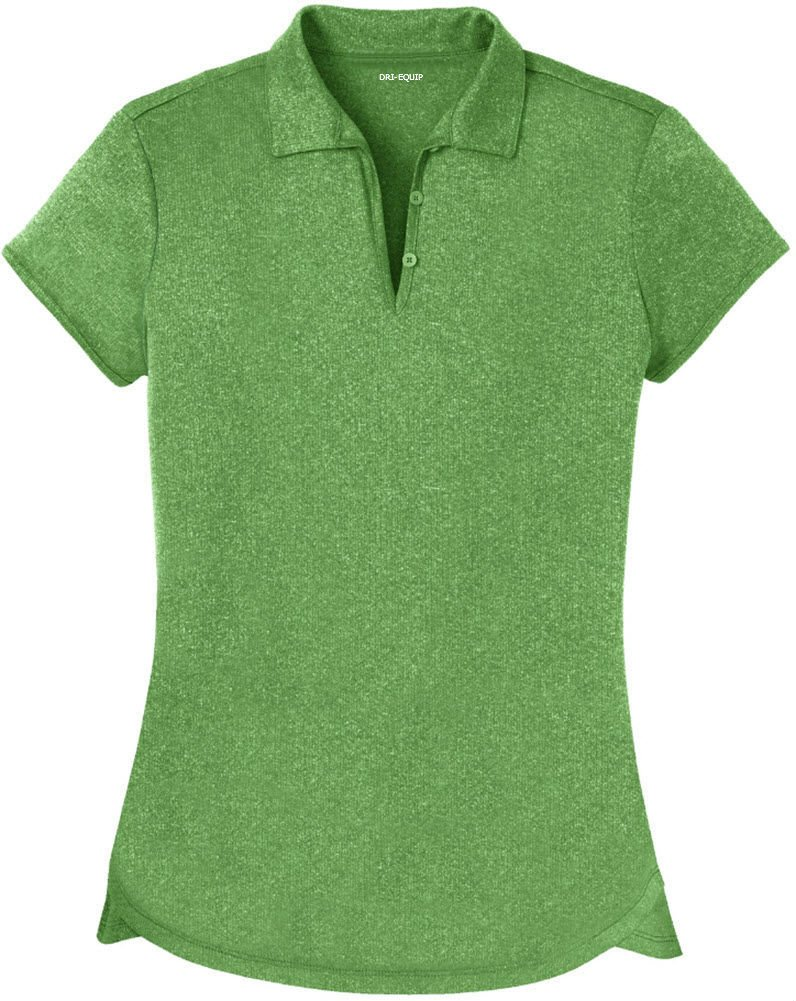 DRI-Equip Ladies Heathered Moisture Wicking Golf Polo-Green-3XL by Joe's USA