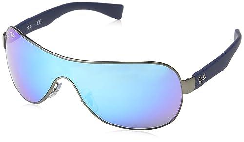 Ray-ban Mod. 3471 - Gafas de sol, unisex, color azul (matte gunmetal), talla Talla única