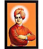 eCraftIndia Swami Vivekananda Satin Matt Texture Framed UV Art Painting
