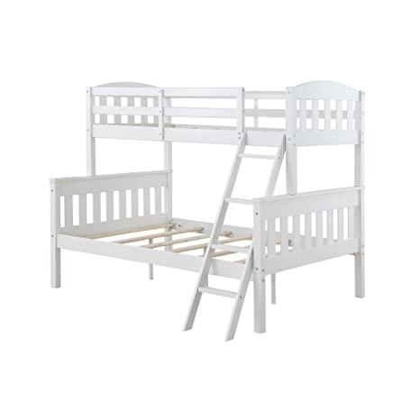 Amazon Com Dorel Living Airlie Solid Wood Bunk Beds Twin Over Full