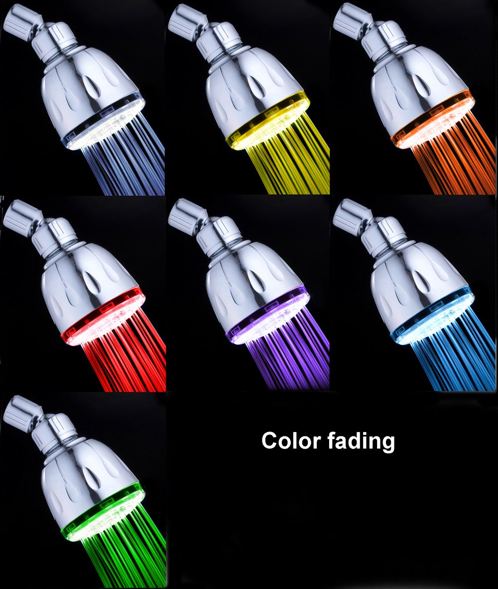 Amazon.com: MagicShowerhead SH1026 7 LED Colors Fading Shower Head ...