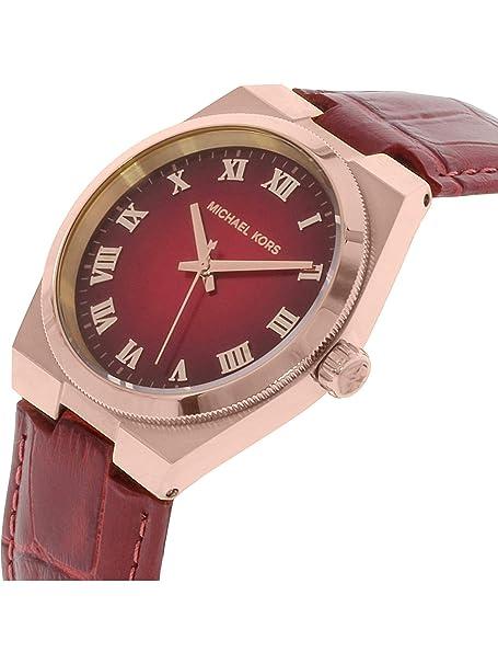 620b68a8f989 Amazon.com  Michael Kors Women s MK2357 - Channing Rose Gold Red Dial Watch   Michael Kors  Watches