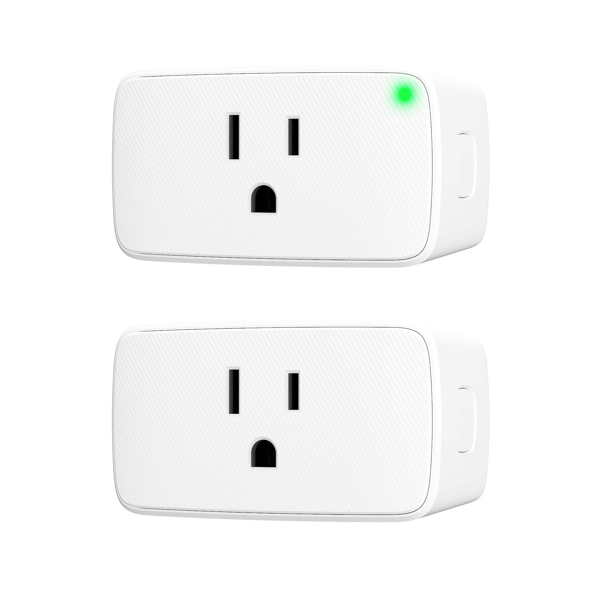 VOCOlinc Smart Plug, Wi-Fi Mini Outlet Socket, Works with HomeKit (iOS12 or +), Alexa & Google Assistant, Timer, No Hub Required, 15A 1800W, 2.4GHz, Smartbar (2 Pack)