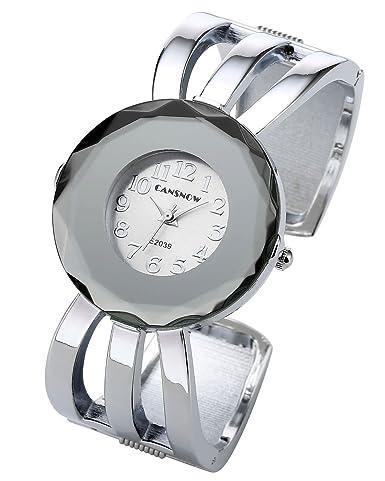 6ce8e5851cb Top Plaza Womens Fashion Elegant Cuff Bangle Analog Quartz Arabic Numeral Bracelet  Watch 7
