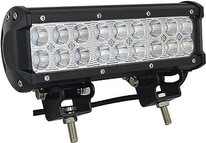 AUXTINGS 22,9 cm 54W di inondazione LED lavoro luce bar SUV 4WD guida fari