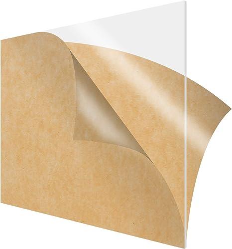 """For DIY, Craft,... 1//8/"""" Clear Acrylic Plexiglas Plastic Sheet 6/"""" x 9/"""""""