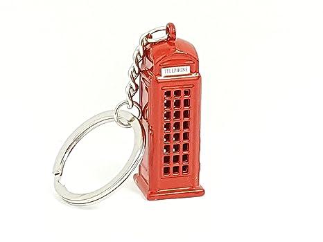 Londres Souvenir Llavero rojo cabina de teléfono regalo por ...
