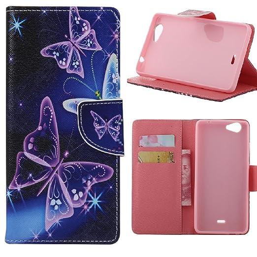 5 opinioni per KATUMO®Wiko Pulp Fab 4G (5.5 Pollice) Wallet Case,PU Cuoio con Carta di Creditoi