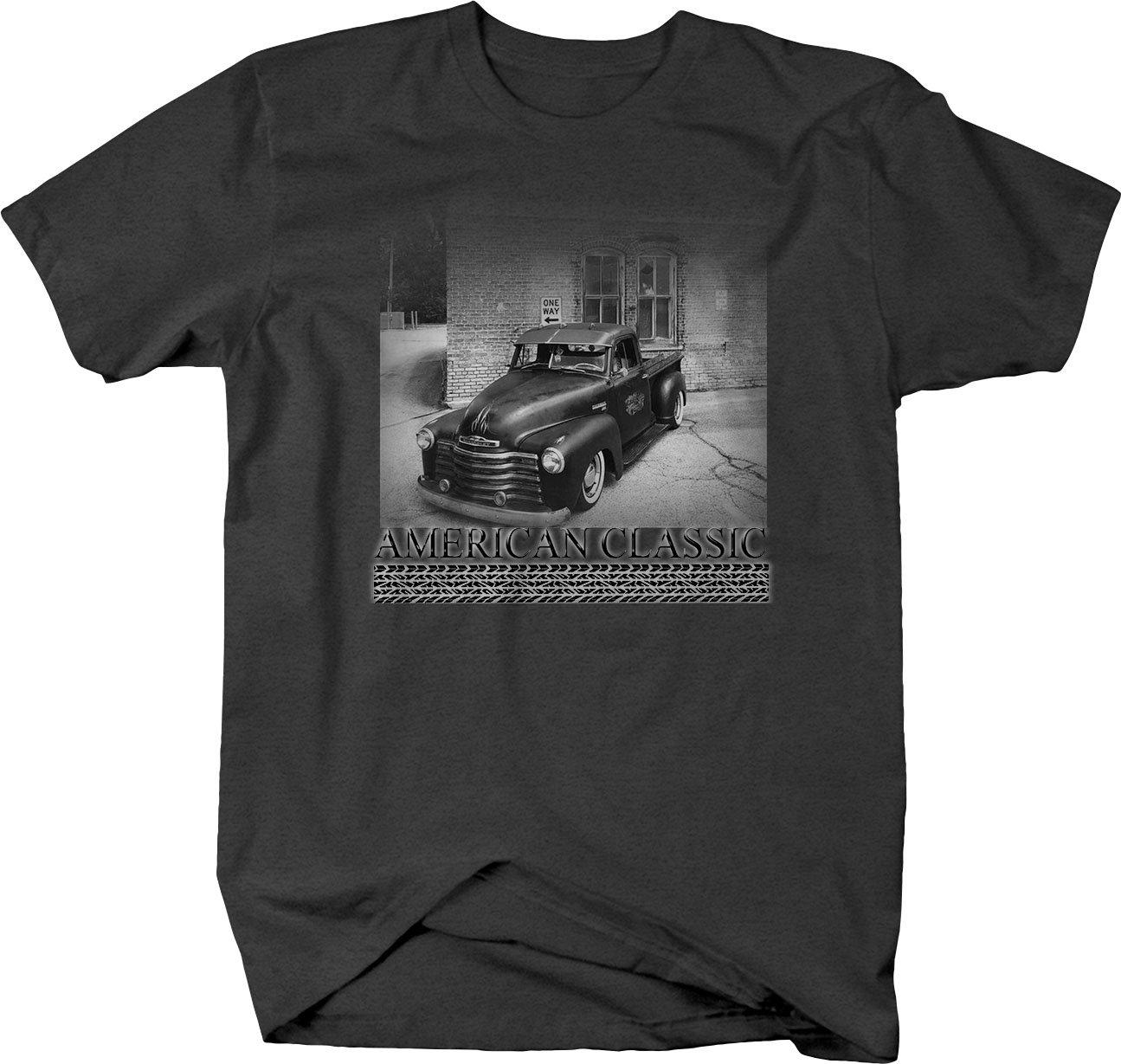Retro American Classic 50s Patina Chevy Hotrod Pickup Truck Tshirt