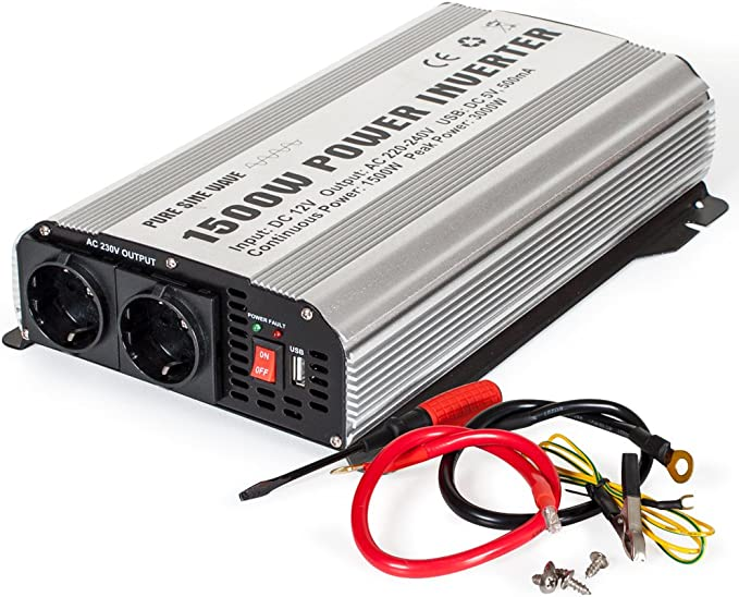 Tectake Sinus Spannungswandler Wechselrichter Inverter 12 V Auf 230 V 1500w 3000w Elektronik
