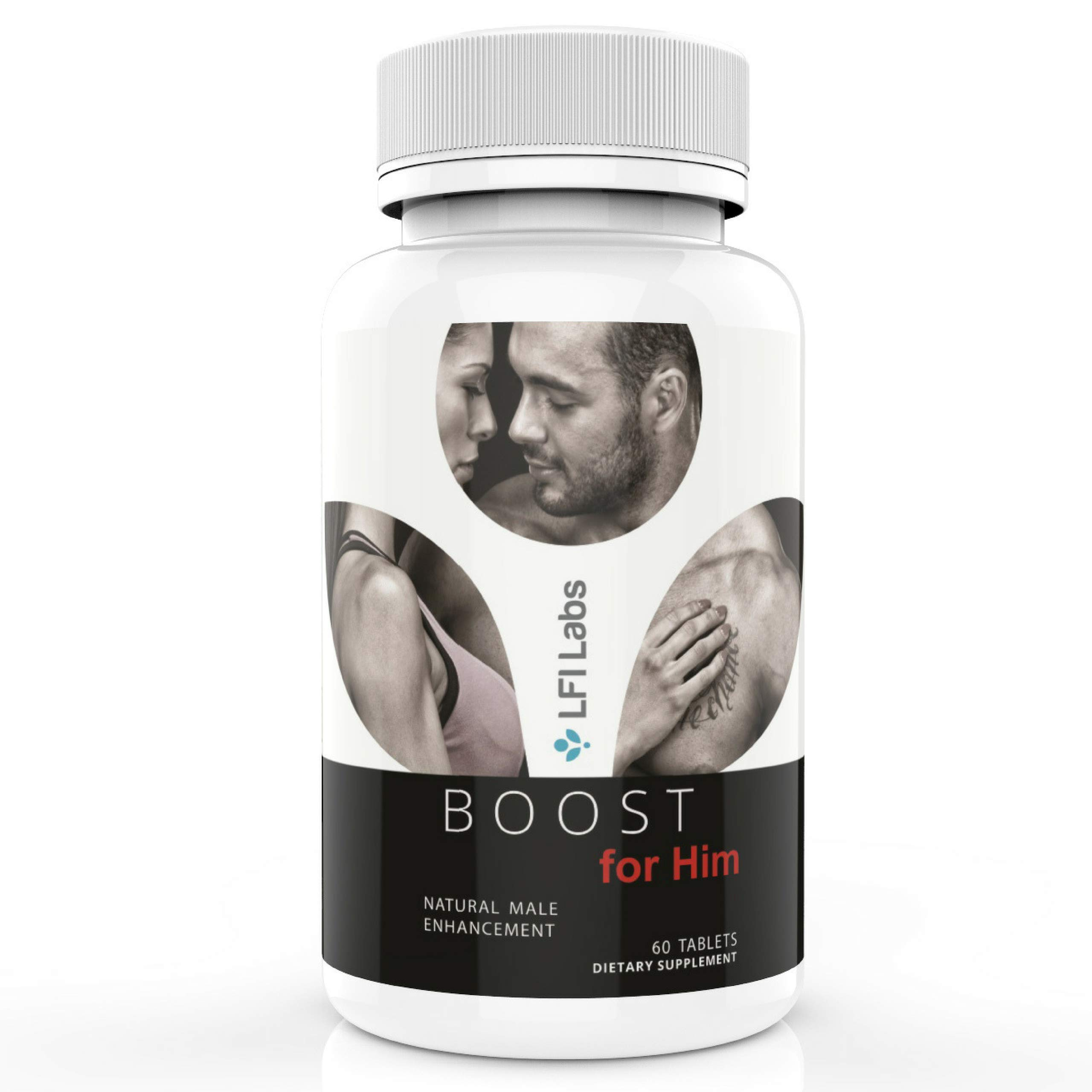 Boost For Him — Premium Enhancement Formula for Men with Tongkat Ali and Maca for a Maximum Strength Boost, Energy, Endurance | 60 Tablets by LFI Labs (Image #1)