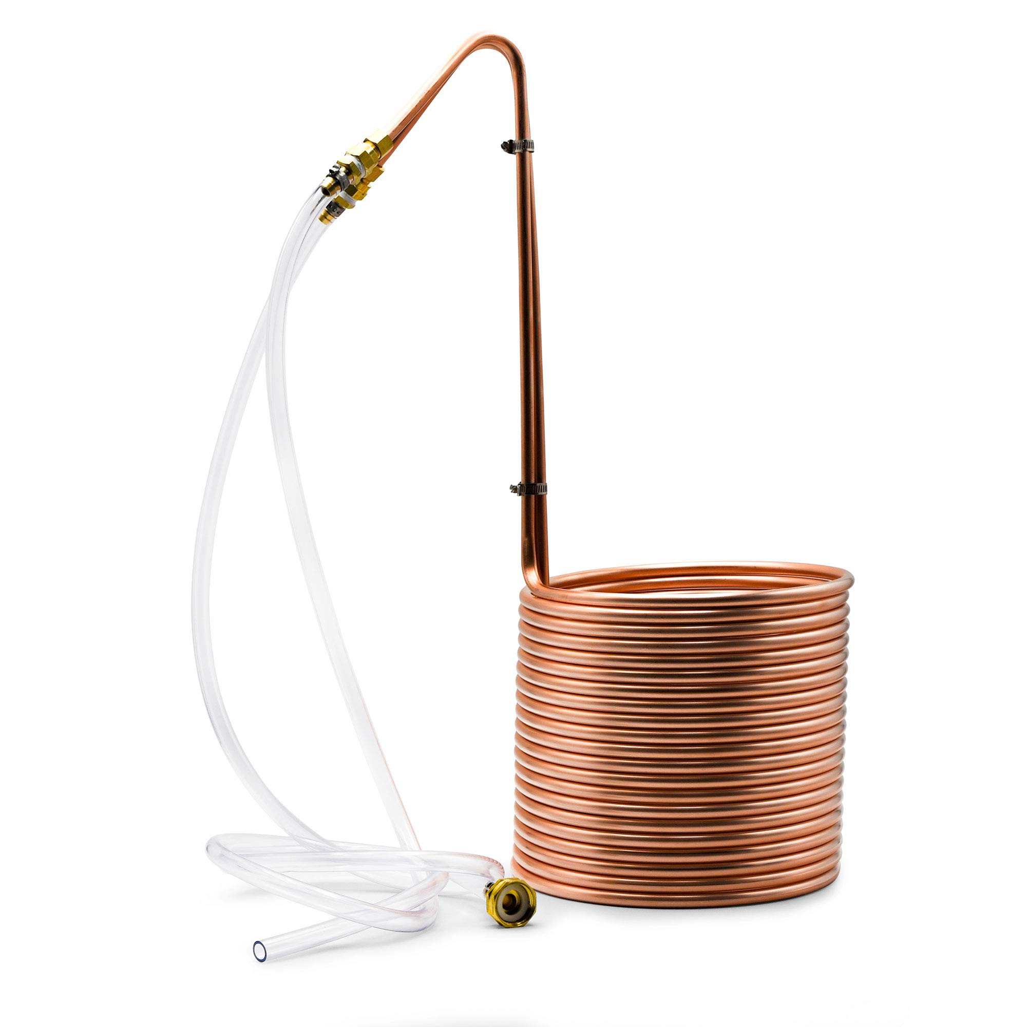 Northern Brewer - Copperhead 50 Foot Copper Immersion Wort Chiller for Beer Brewing Coil with Vinyl Tubing and Garden Hose Connection