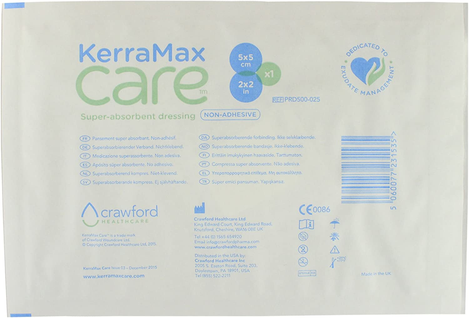 PRD500-100 Preventing Leaks or Drips for Improved Patient Comfort and Wound Care Treatment Absorbs Exudate and Isolates it Box of 10 KerraMax Care 5x6 Super Absorbent Wound Dressing