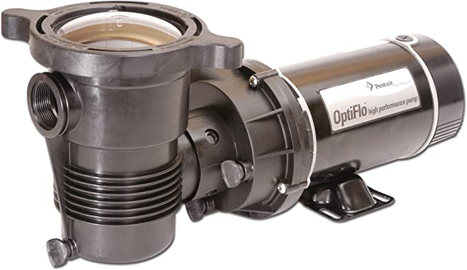 Pentair 347982 OptiFlo Horizontal Discharge Aboveground Pool Pump with Cord and Standard Plug, 1 HP