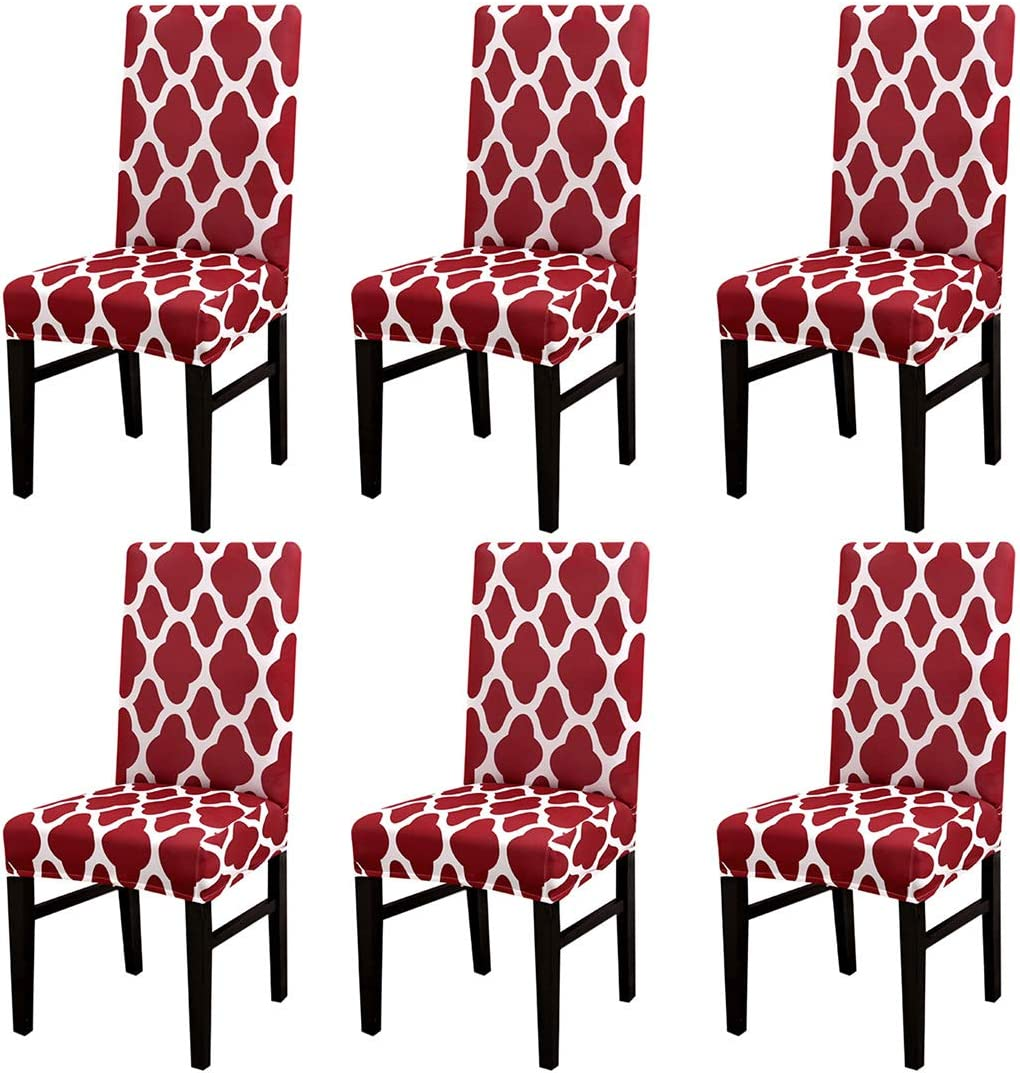 1 6pcs Jinshou 2 4 6pcs Dining Chair Cover Stretch Short Washable Short Dining Room Slipcover Wedding Banquet Seat Protector Home Home Decor