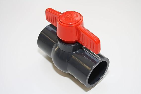 /U 10/bar DIN 8063 V/álvula de bola de 50/mm con 2/x adhesivas manguito 1/1//2/de PVC/