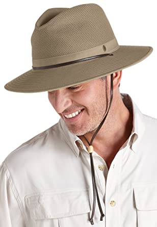 e4be08211e4 Coolibar UPF 50+ Men s Crushable Ventilated Hat - Sun Protective at Amazon Men s  Clothing store  Sun Hats For Men