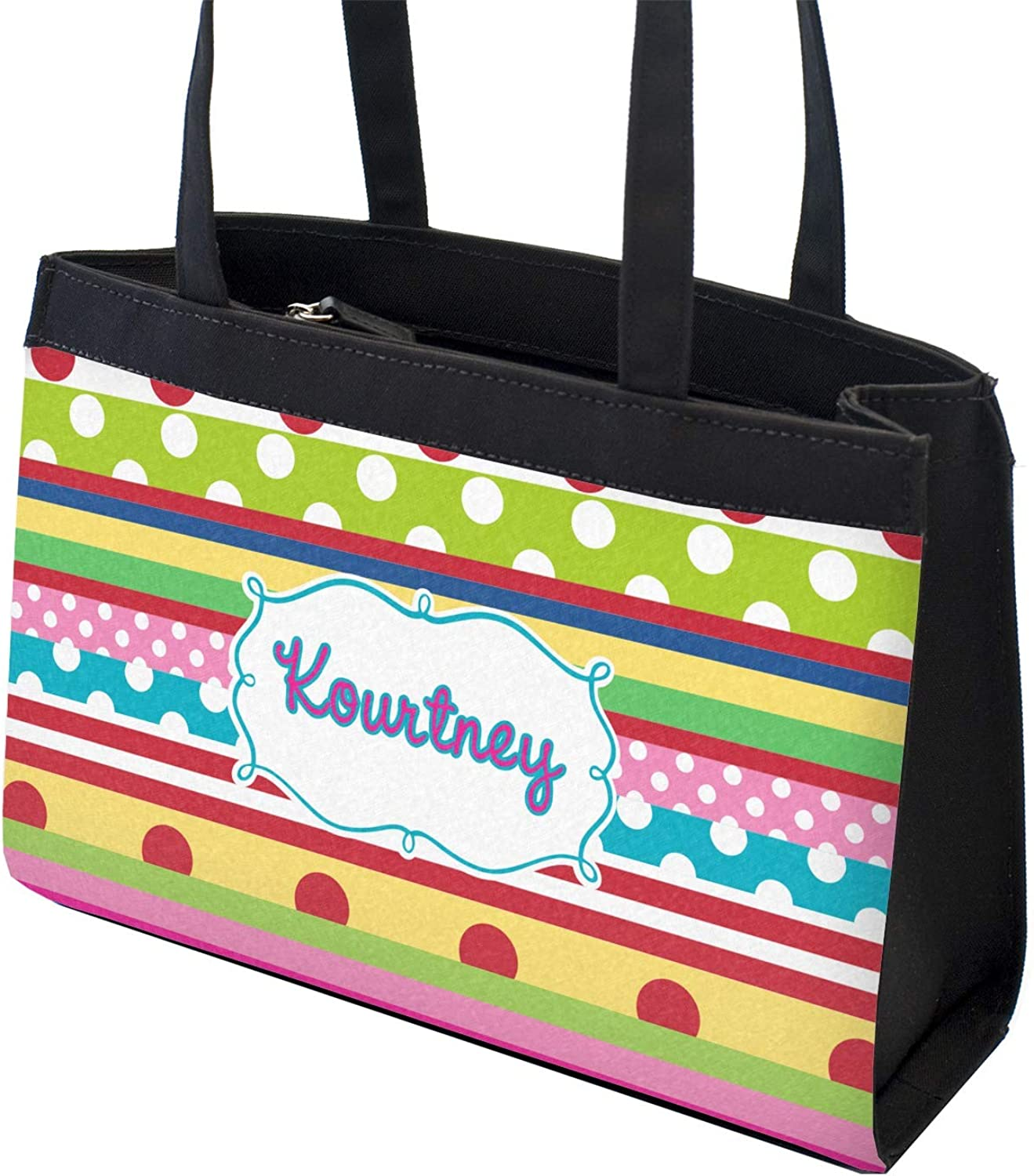 Personalized Front /& Back Ribbons Zippered Everyday Tote