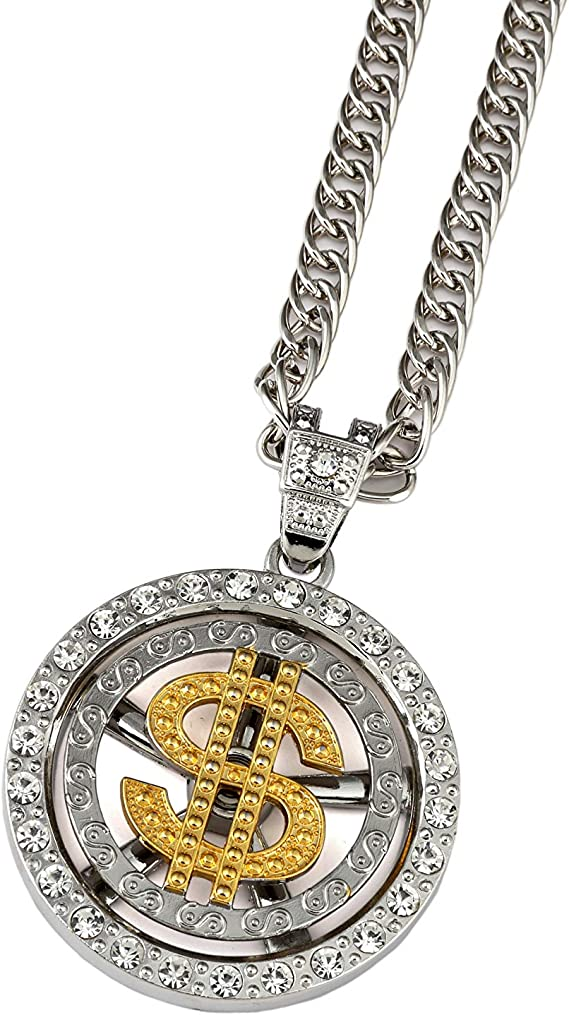 Hip Hop Jewelry Hengyid Gold Necklace Chain With Dollar Sign 18k Gold Plated Hip Hop Chain Necklace Pendant For Men 32 Inch Amazon Com