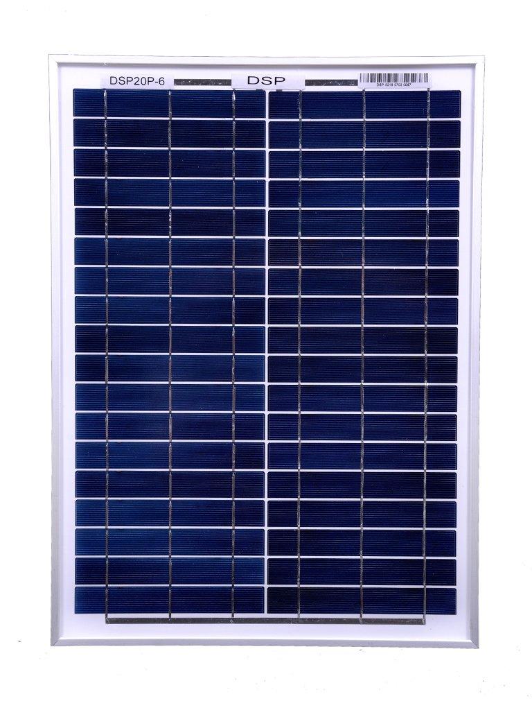 DOKIO 20W Polycrystalline Solar Panel for 12 V Battery Charging