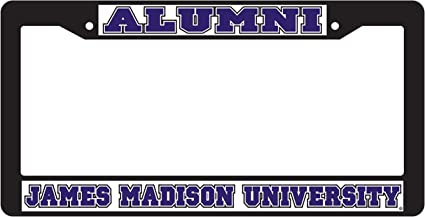 Craftique Alumni Desert Cactus James Madison University Alumni Metal License Plate Frame for Front Back of Car Officially Licensed JMU Dukes