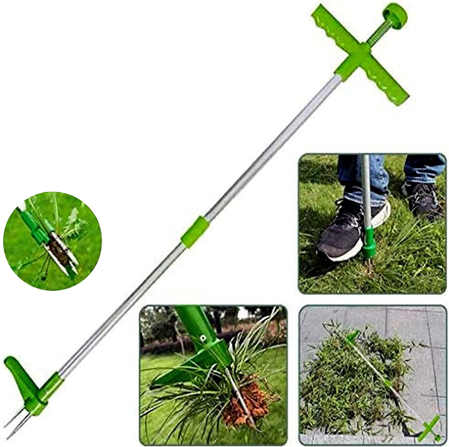 Assletes Stand-Up Weed Puller,Weeder Root Removal Tool for Garden, 39