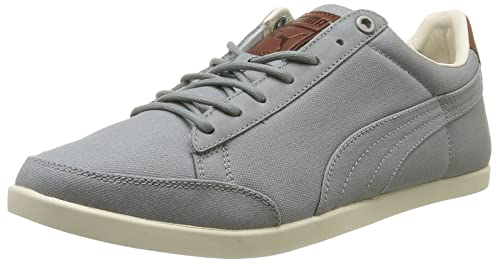 Puma Men s Catskill Canvas Lace-Up Flats Gray Gris (Gray Brown White Silver)  6.5 (40 EU)  Amazon.co.uk  Shoes   Bags 46eea6f18