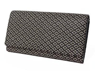 new style ddc54 0687b Amazon | 印傳屋 印伝 長財布・束入 [2306 紫×白 菱菊] | 財布