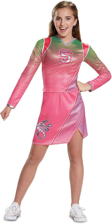 GIRLS PINK ZOMBIE CHEERLEADER CHILDS SCHOOL FANCY DRESS COSTUME HALLOWEEN TEEN
