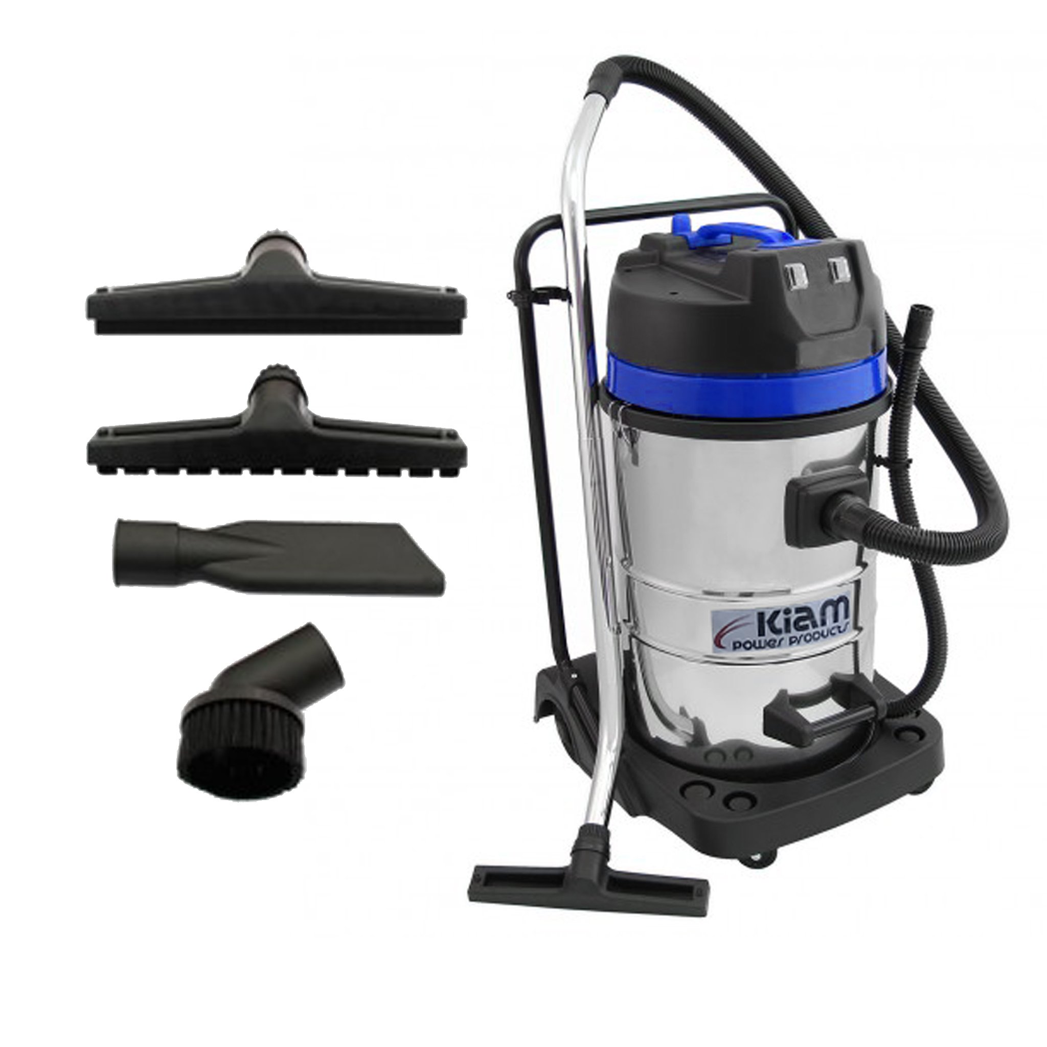 GutterProVac 20ft (2 Story) Commercial Gutter Cleaning Vacuum System, Professional Equipment and Dual Motor, 2.7 HP, Industrial Wet & Dry Vacuum Cleaner and Aluminium Gutter Cleaning Poles by Maxxus Industries (Image #6)