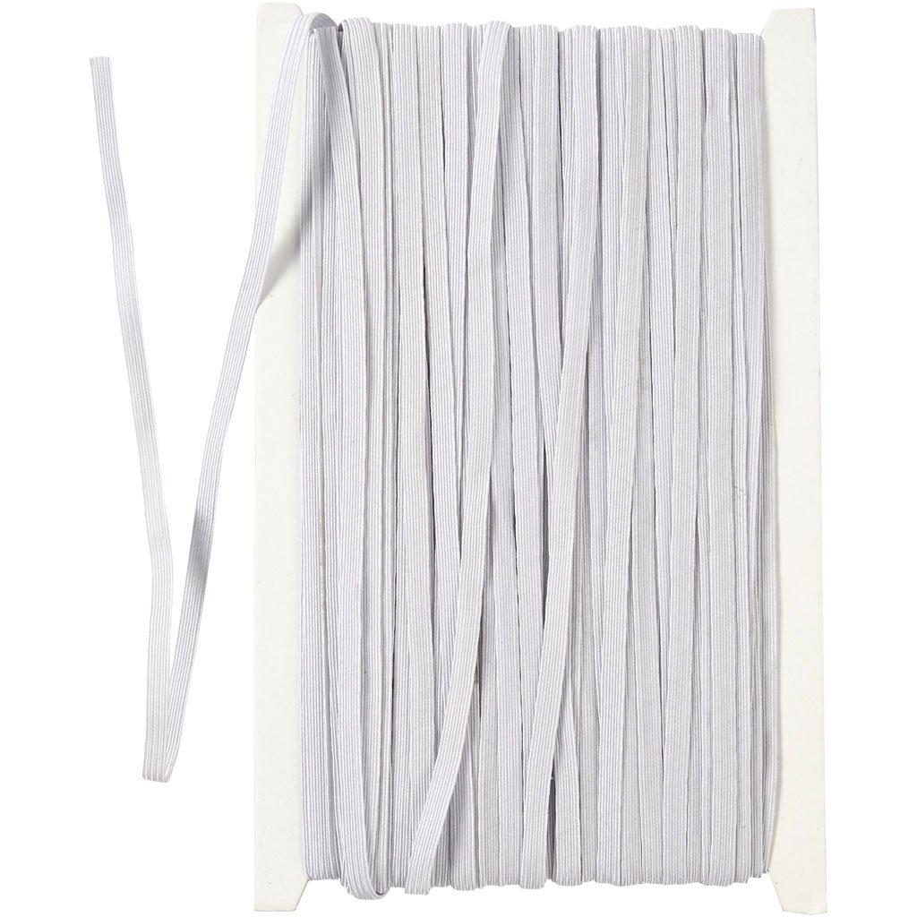 bianco larghezza: 6 mm Cordoncino elastico 50 m
