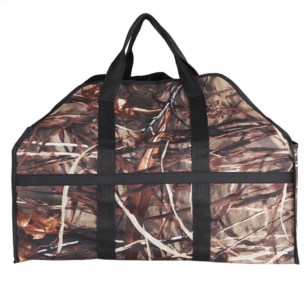 Portador del bolso de la leña, poseedor del estante portátil del bolso de los totes del registro que lleva con las palancas autosuficientes del diseño y de la seguridad para la chimenea, el acampar, l Zerodis