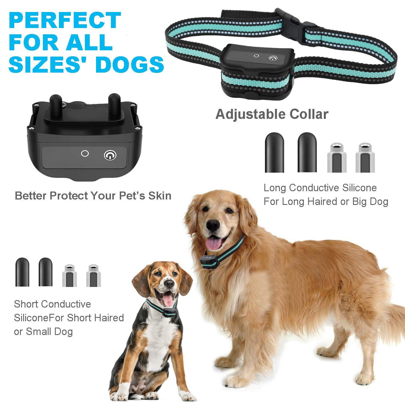 BESTHING Dog Training Collar, Dog Shock Collar, 3 Training Modes, Beep Vibra Electric Shock, Up to 1450Ft Remote Range, 1-100 Levels Waterproof Dog Training Set for Small Medium Large Dogs