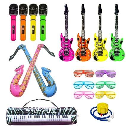 Amazon.com: Juego de juguetes inflables con estrella de rock ...