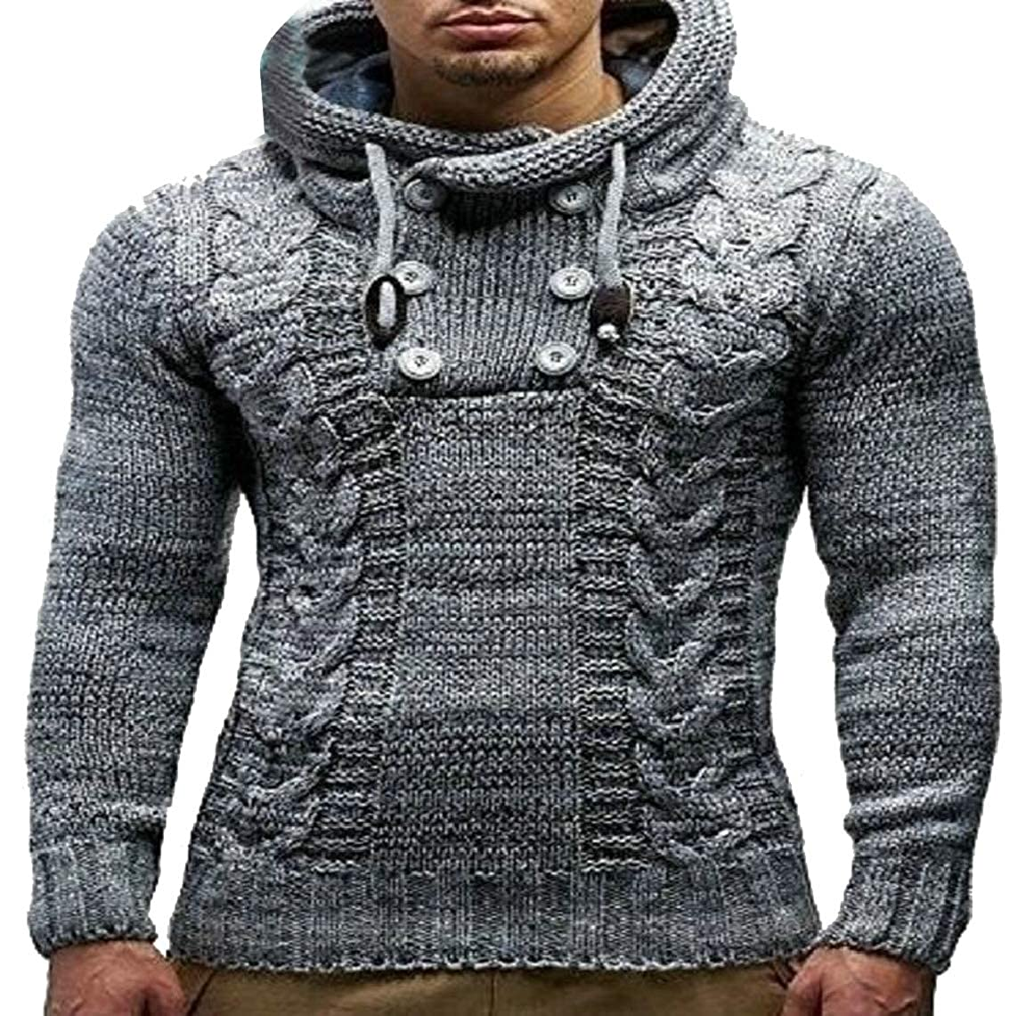 Jmwss QD Mens Casual Slim Basic Tops Knitted Thermal Turtleneck Pullover Sweater
