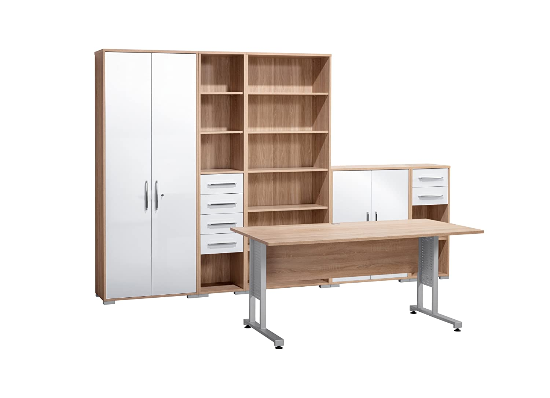 MAJA-Möbel 1200 2556 Büroprogramm SYSTEM, Sonoma-Eiche-Nachbildung ...