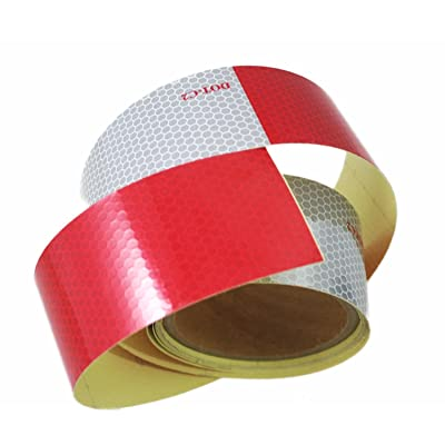 ABN Trailer Conspicuity Tape DOT-C2 Approved 2in X 10ft Reflective Red/White Tape – Vehicles, Trailers, Boats, Signs: Automotive
