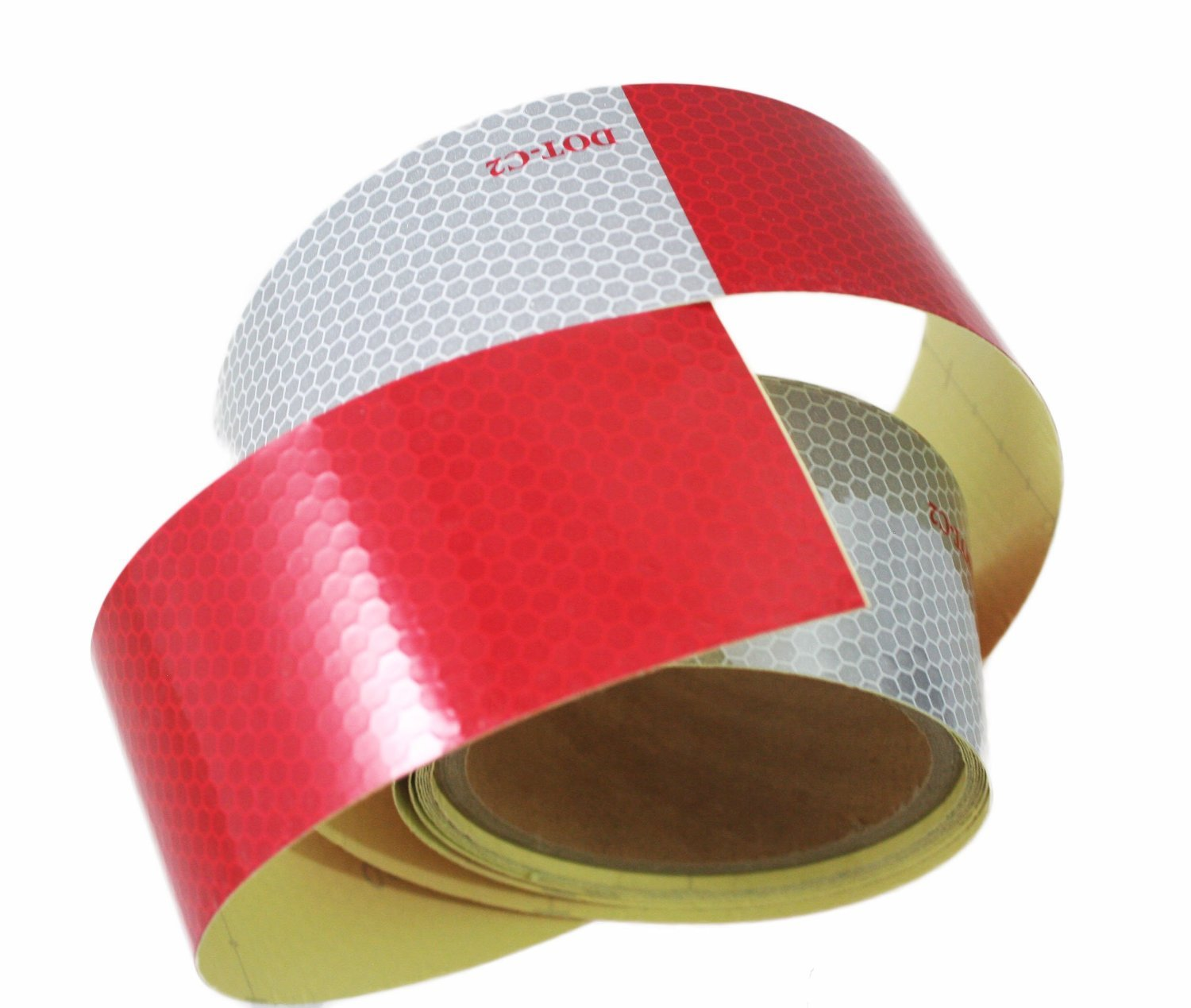 Vehicles Trailers ABN Trailer Conspicuity Tape DOT-C2 Approved 2 Inch X 10 Foot Reflective Red//White Tape Boats Signs