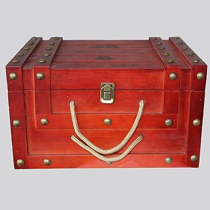 LTQ&qing Caja de vino de madera hueco de seis cajas de vino