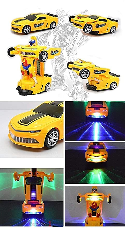 Supreme Deals® Latest Power Battery Operated Remote Converting Car to Robot, Robot to Car,Transformer Toy, with Light and Sound for Kids (Multi_Color)