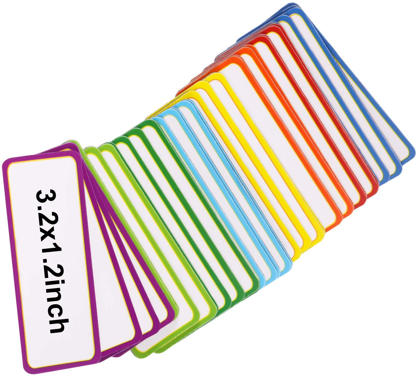 Color B, 3.2 x 1.2 inch 40 Pieces Magnetic Dry Erase Labels Name Plate Tags Flexible Magnetic Label Stickers for Whiteboards Refrigerator Crafts