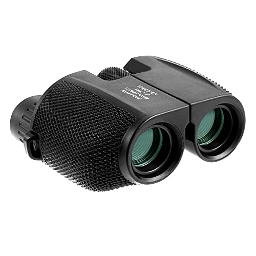 10x25 Binocular Telescope High Powered Waterproof Portable Compact Binoculars Low Light Night Vision with Fully Multi-Coated Lens for Outdoor, Hunting, Bird Watching, Concerts (1025)