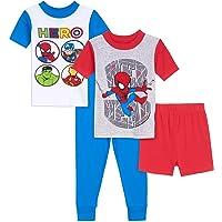 Marvel Juego de Pijama de algodón de 4 Piezas. Juego de Pijama para Niños