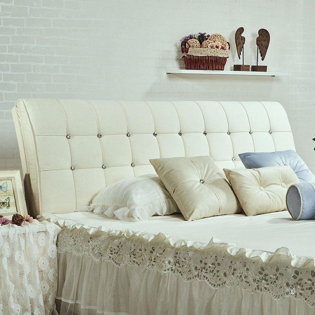 QIANGDA クッション ベッドの背もたれ マットレス ヘッドボード付き ビッグバック ベッドサイドマット 耐摩耗性 ダブルベッドルーム、 7種類の無地、 6サイズ オプション ( 色 : 白 , サイズ さいず : 120 x 8 x 63cm ) B07B2Z1HY1 120 x 8 x 63cm|白 白 120 x 8 x 63cm