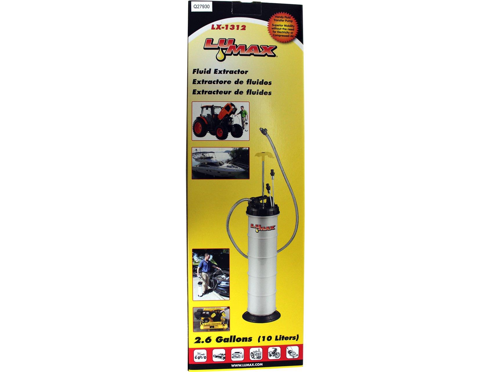 Lumax LX-1312 Manual Fluid Extractor, 2.6G (10L) Capacity by Lumax (Image #2)